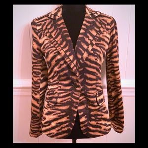 Stylish Animal Print Blazer. EUC